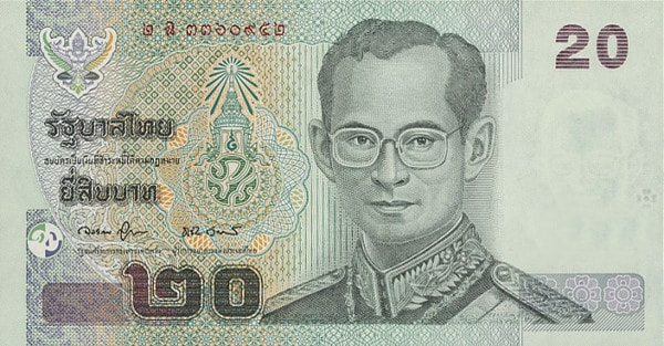 20-sedel i Thailändska Baht